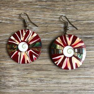 Eye of shiva seashell earrings